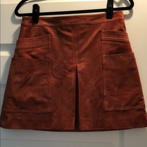 BCBG Washable Suede Skirt